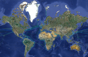 Map of Submarine Cables