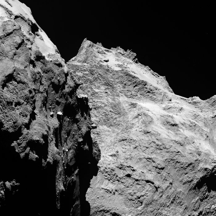 Comet 67P seen from Rosetta