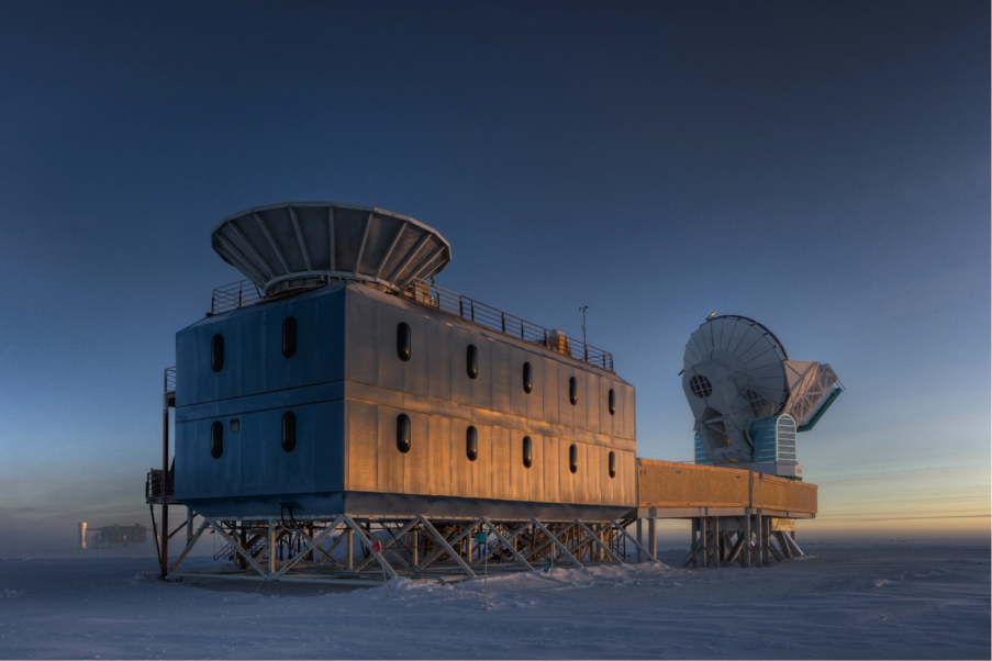 The BICEP2 laboratory, located at the South Pole. Image courtesy BICEP2/Steffan Richter, Harvard University